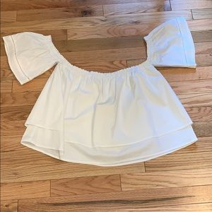 Stella Luce off shoulder white blouse